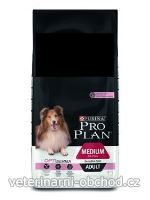 Psi - krmivo - ProPlan Dog Adult Medium Optiderma salmon